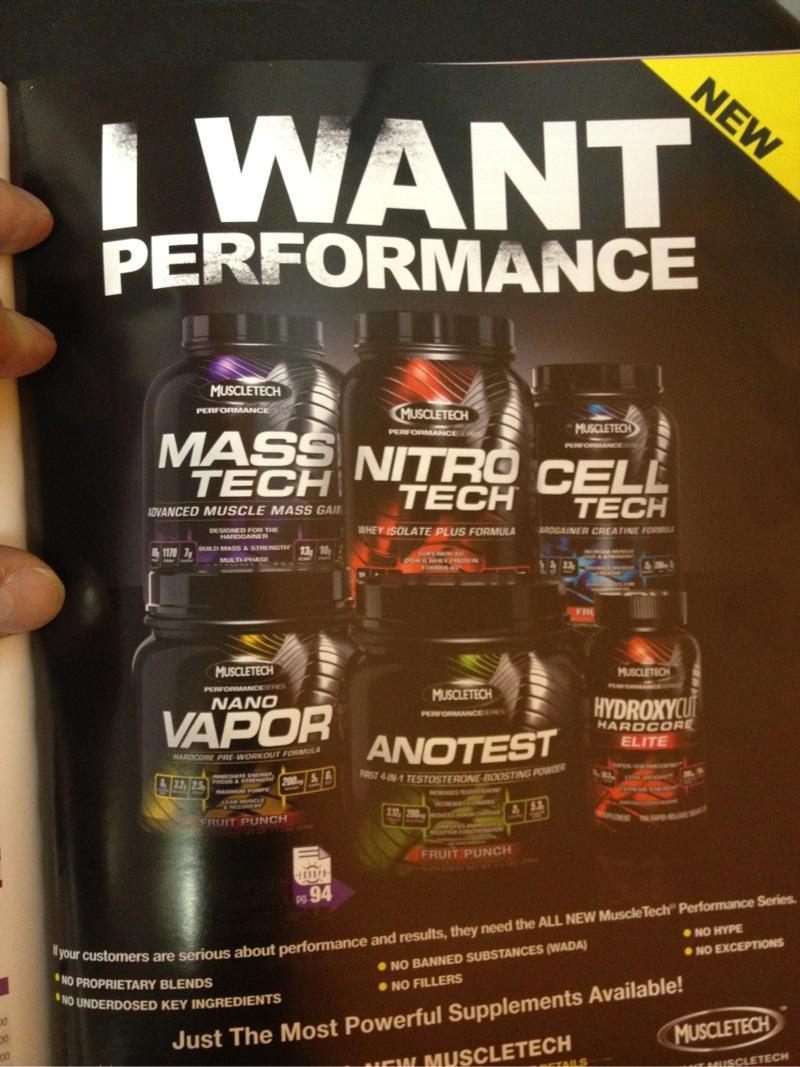 Muscletech Performance Series, nueva linea de suplementos