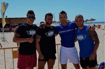 Javier Colomer y otros competidores