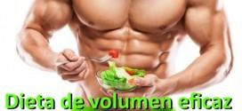 Entrenamiento de volumen eficaz: dieta (III)