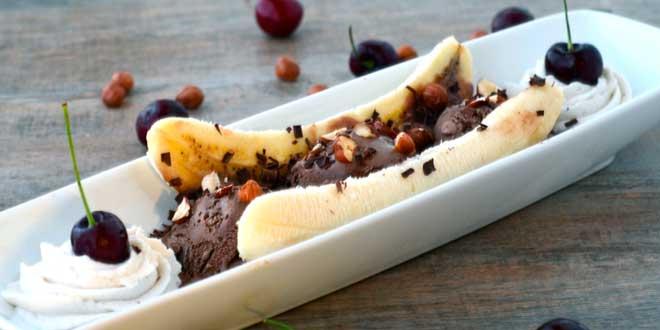 Banana Split - Helado Proteico Vegano