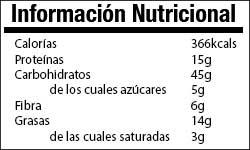 Valor Nutricional Avena Manzana Pipas Calabaza