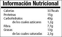 Valor Nutricional Avena y Mantequilla de Cacahuete