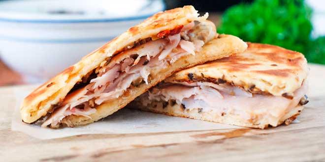 Sandwich de Pavo con Pan de Avena