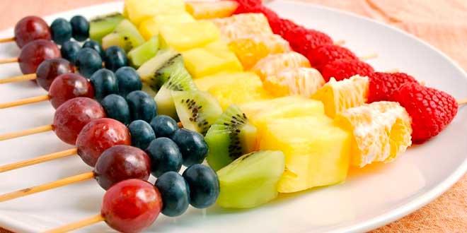 Receta de Brocheta de Frutas