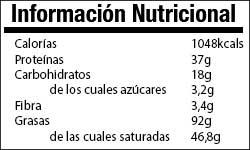 Valor nutricional Turron Fitness
