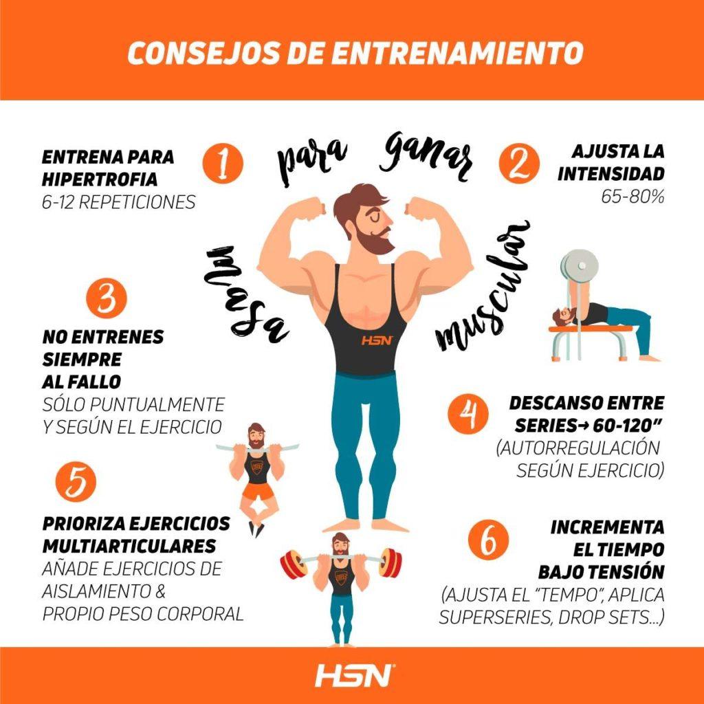 Consejos de Entrenamiento para Ganar Masa Muscular