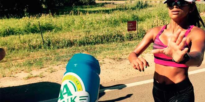 Beber durante la carrera
