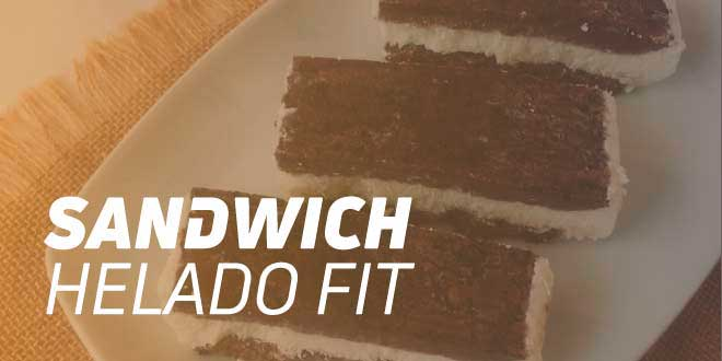Sandwich Helado Fit