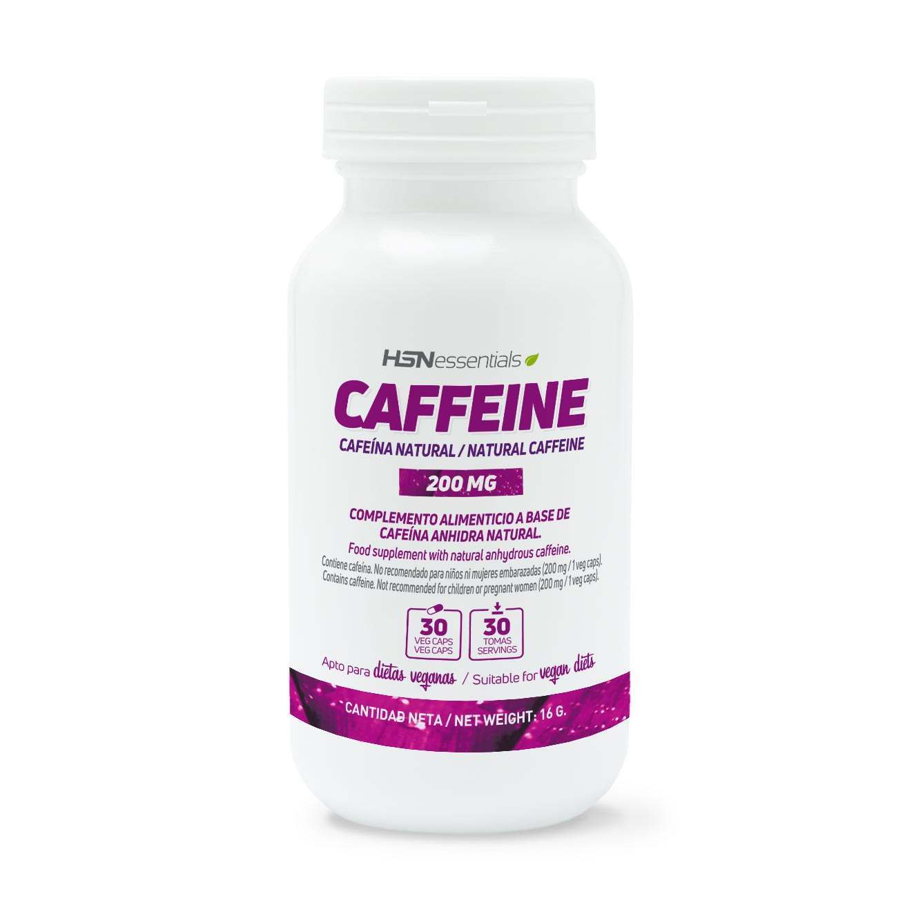 CAFEÍNA NATURAL 200mg - 30 veg caps