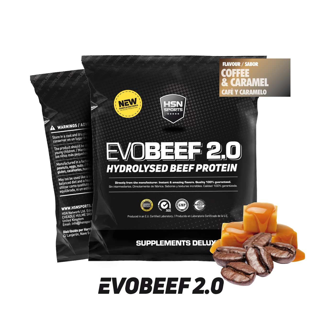 SAMPLE EVOBEEF 2.0 (HYDROLYZED BEEF) + EXTRA LEUCINE 30g COFFEE AND CARAMEL