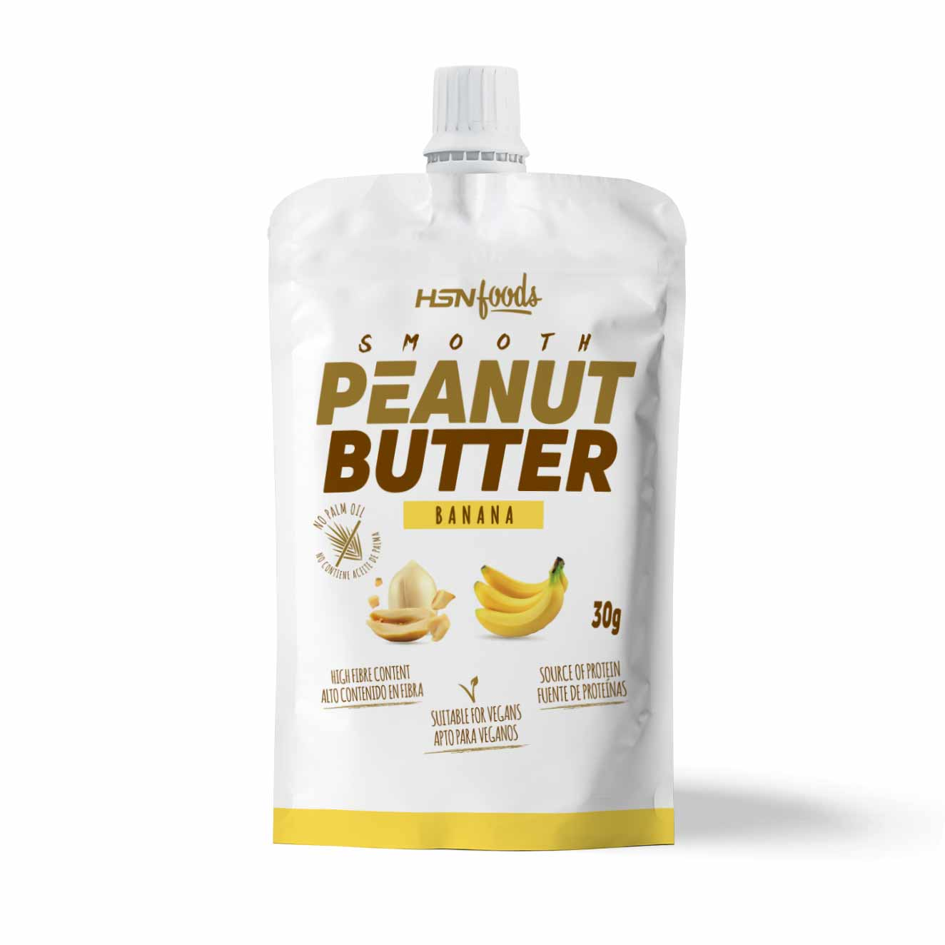 SMOOTH PEANUT BUTTER SAMPLE 30g BANANA