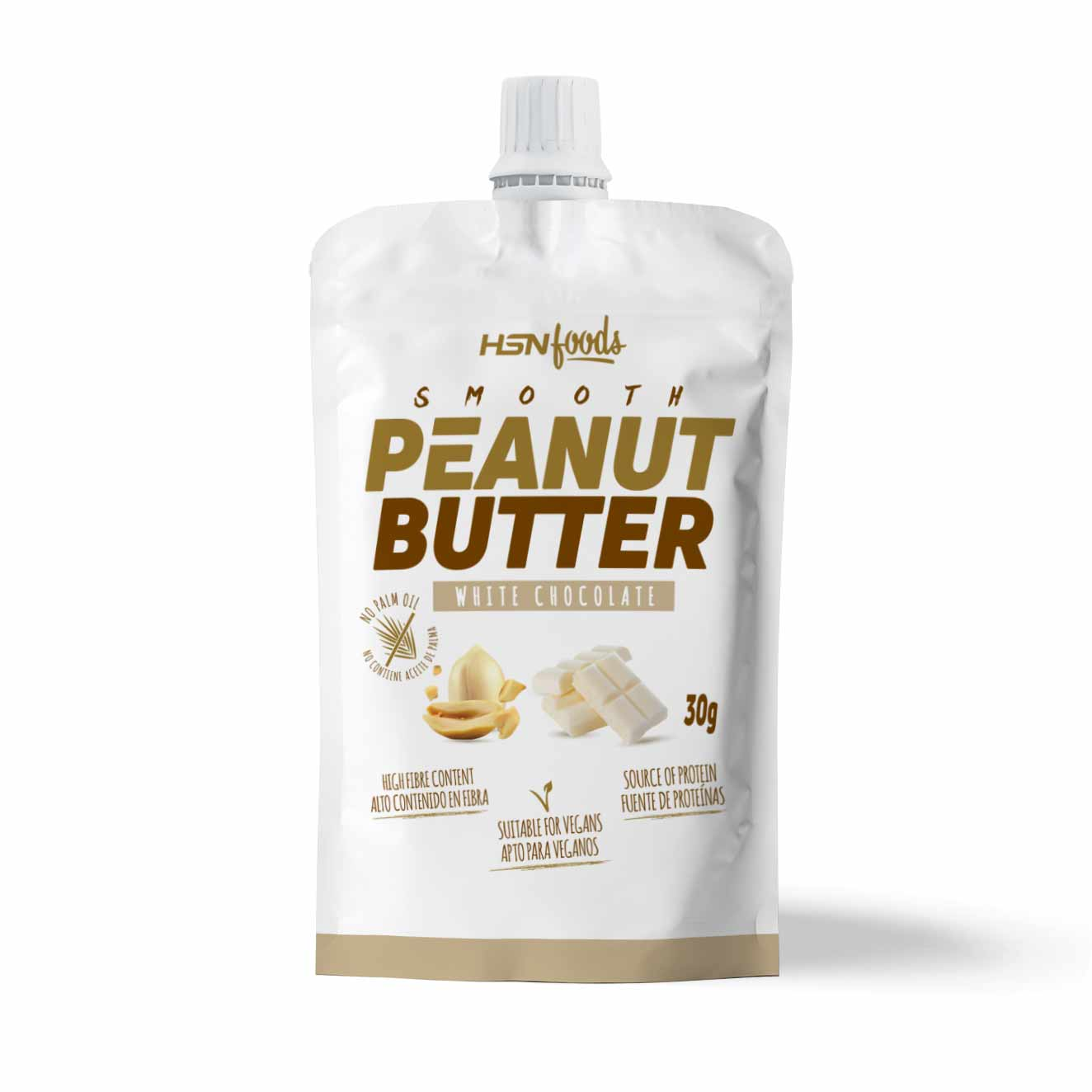 SMOOTH PEANUT BUTTER SAMPLE 30g WHITE CHOCOLATE