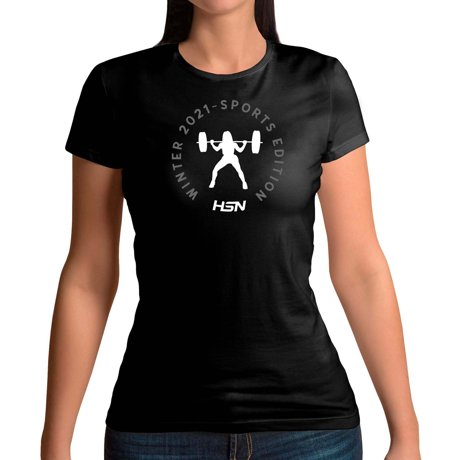 CAMISETA CHICA WINTER 2021 SPORTS EDITION CROSSFIT NEGRA - XL