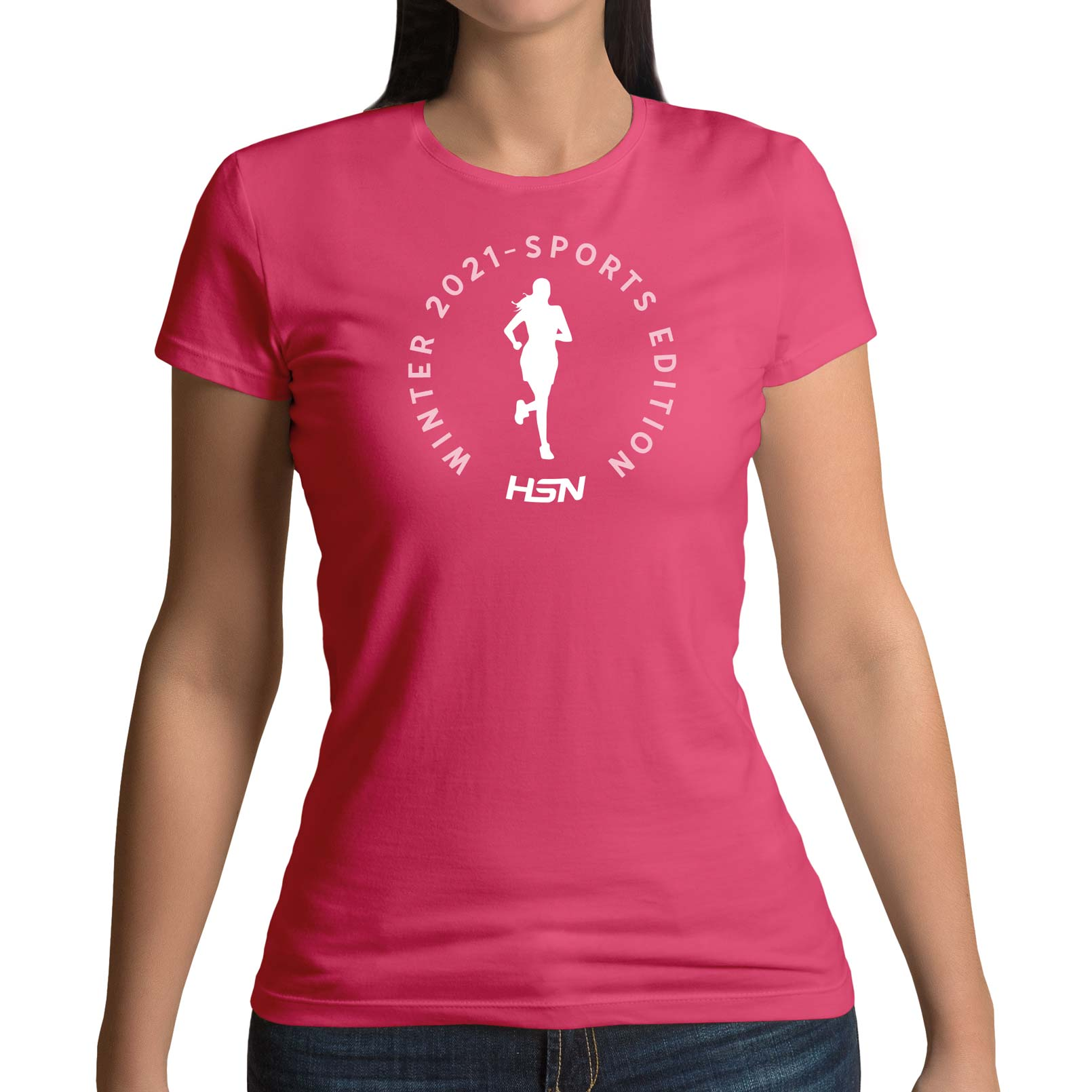 CAMISETA CHICA WINTER 2021 SPORTS EDITION RUNNING FUCSIA - L
